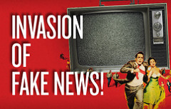 Invasion of Fake News Graphic by Free Press Action Fund