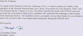 Hall Letter